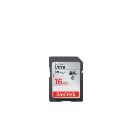 Sandisk Ultra SDHC 16GB / 80 MBs