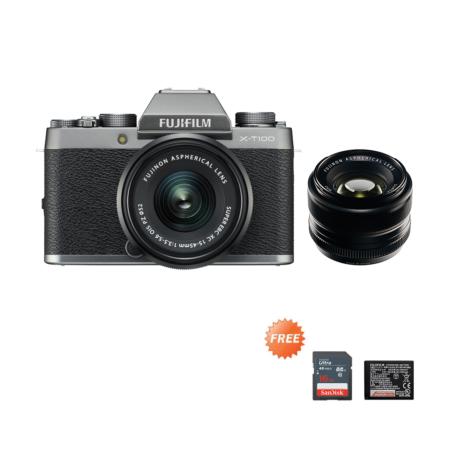 Fujifilm X-T100 Kit + 35mmF1.4 Dark Silver Promo Oktober 2020