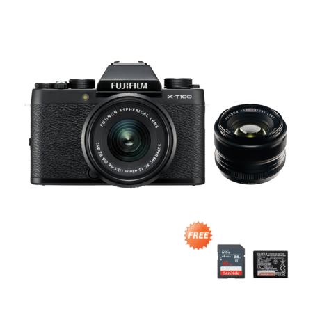 Fujifilm X-T100 Kit + XF35mmF1.4 Black Promo Oktober 2020