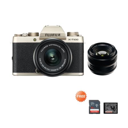 Fujifilm X-T100 Kit + 35mmF1.4 Gold Promo Oktober 2020