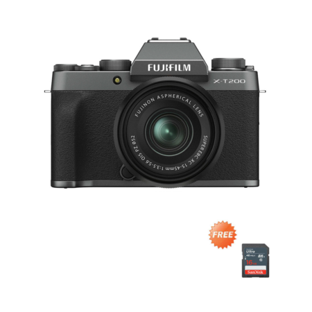 Fujifilm X-T200 XC15-45mm Dark Silver Promo Oktober 2020