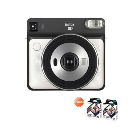 Fujifilm Instax SQ6 Pearl White FREE Paper Agustus 2020