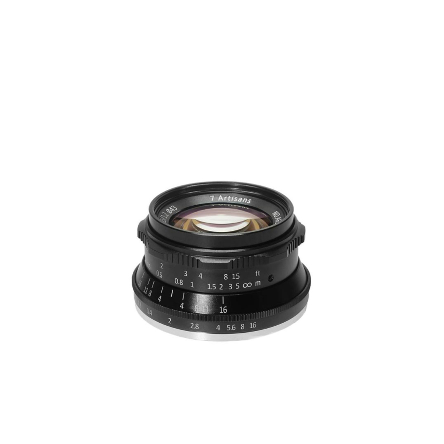 7Artisans 35mm f/1.2 Olympus M/43 Mount for Panasonic (Black)
