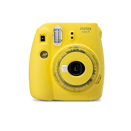 FUJIFILM INSTAX Mini 9 Instant Film Camera Clear Yellow