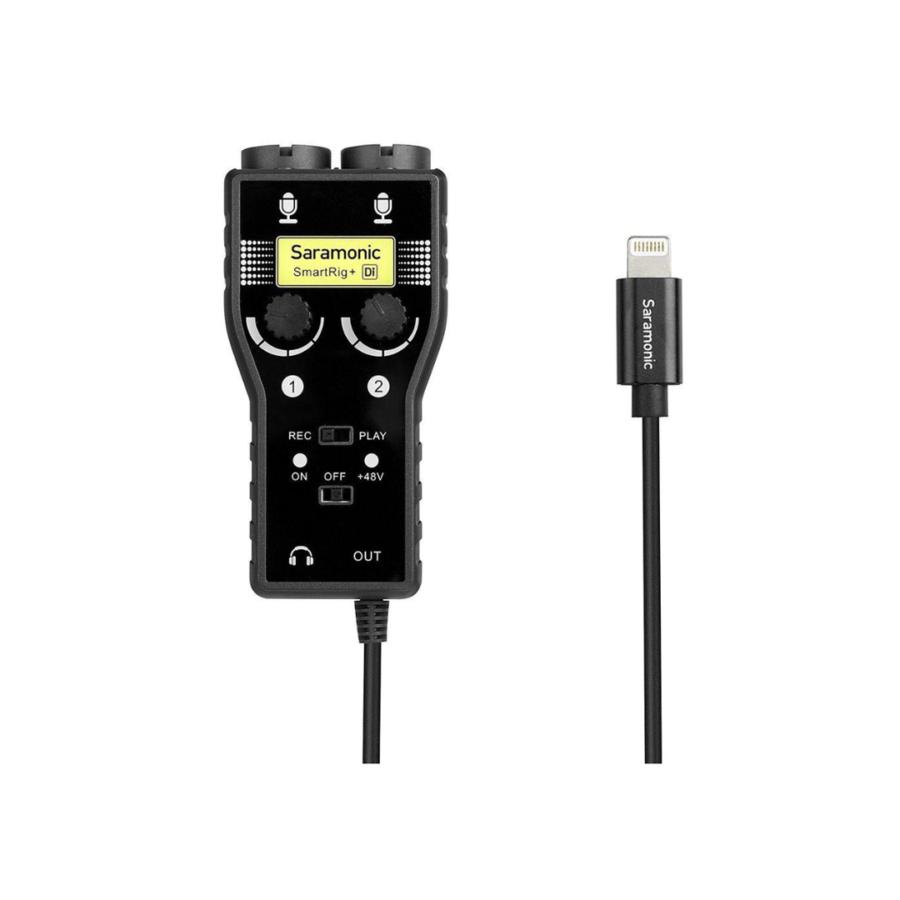 Saramonic Smartrig+ DI 2 Channel Audio Mic & Guitar for Iphone Ipad