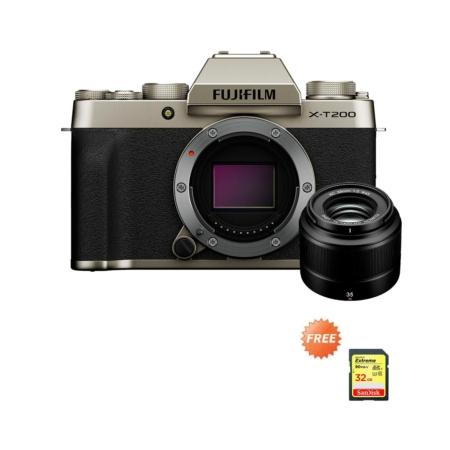 Fujifilm X-T200 XC35mmF2 Gold Promo Oktober 2020